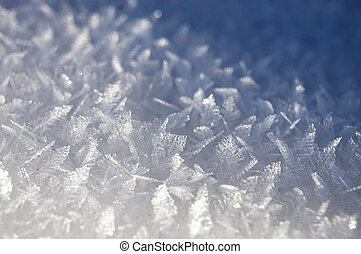 Background with ice crystals