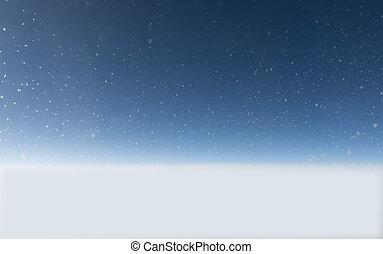 ice crystals on blue sky
