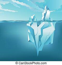 Background with Iceberg. Vector - Background with Iceberg...