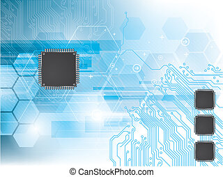 Background with integrated circuit and data processor - ...