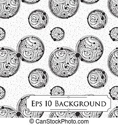 Background with Intricate Bubbles