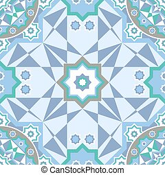 Background with Islamic Seamless Pattern. Vector illustration