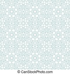 Islamic Seamless Pattern - Background with Islamic Seamless...