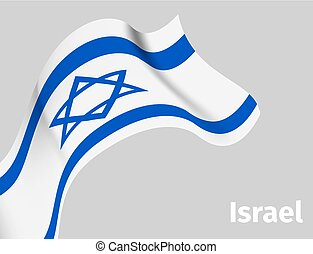 Background with Israel wavy flag