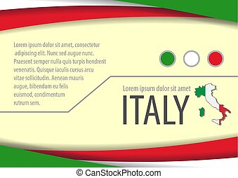 Background with Italian colors and free space for your text.