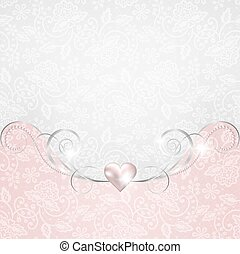 Background with jewelry frame