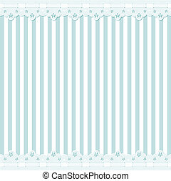 Background with lace border - Blue and white striped...