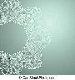 background with lace ornament
