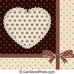 background with lace ornaments.
