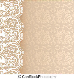 Background with lace, square sheet