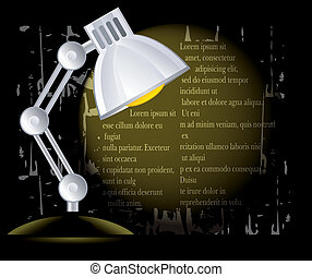 background with lamp