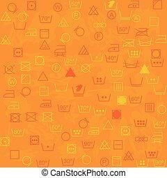 Background with laundry symbols
