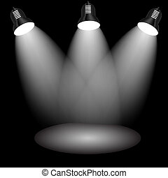 Background with lighting lamp. Empty space for your text or object