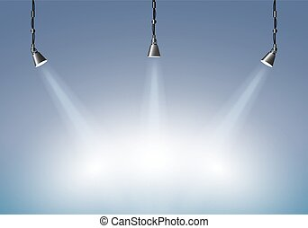 Background with lighting lamp.