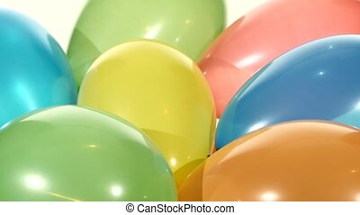 Background with lot of multicolored balloons, rotation - A...