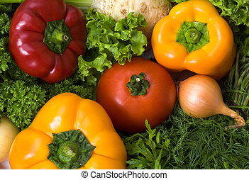 Background with lots of vegetables