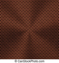 Background with Lozenge Pattern and Bronze Texture -...