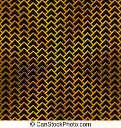 Background with Lozenge Pattern and Gold Texture -...
