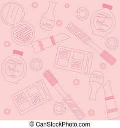 makeup seamless pattern - background with makeup seamless ...