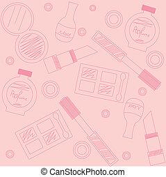 makeup seamless pattern - background with makeup seamless ...