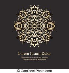 Background with mandala pattern