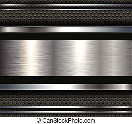 Background with metal plate bars