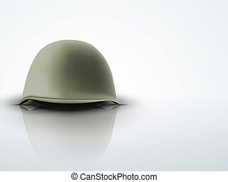 Background with Military classic helmet vector
