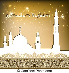 background with mosque