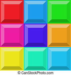 Background with multicolor upper 3d tiles - Abstract...