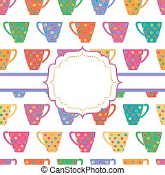 Background with multicolored cups