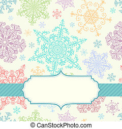 Background with multicolored snowfl