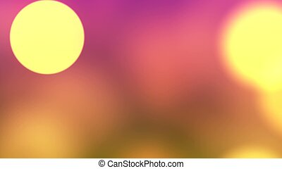 Background with nice big bokeh 3D rendering - Abstract ...