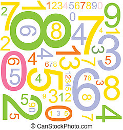 background with numbers - Abstract background with colorful...