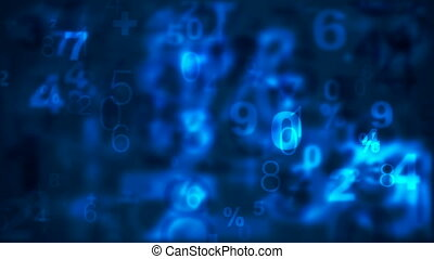 Background with numbers - HD, loop - Seamless blue...
