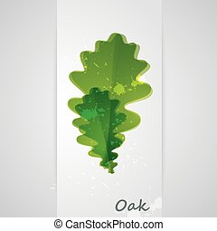background with oak leaves