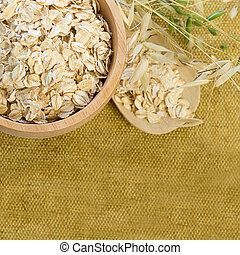 Background with Oat Flake - Healthy Eating
