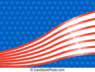 Background with of USA flag