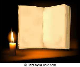 Background with old book