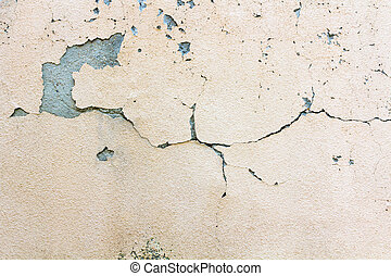 Background with old cracked wall