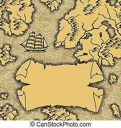 Background with old nautical map.