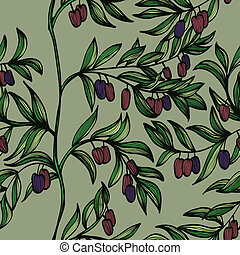 Background with olives