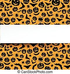 Background with orange halloween pattern.