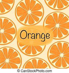 Background With Orange Vector Illustration.