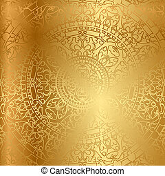 background with oriental decoration - Vector gold background...