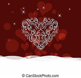 Background with ornament heart