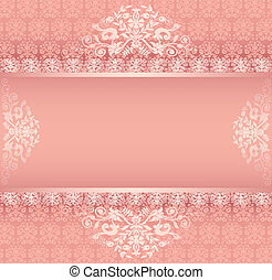 background with ornament with pink stripe for posts