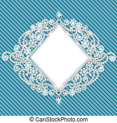 background with ornament with precious stones