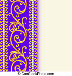 background with ornaments and precious stones