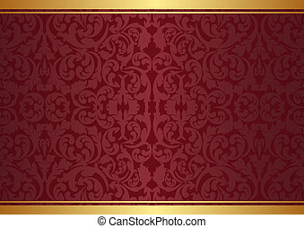 background with ornaments - maroon and gold background with...