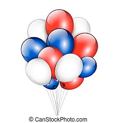 Background with party balloons and place for your text.